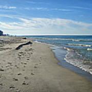 Walking The Beach Poster by Sandy Keeton