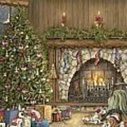 Warm Christmas Poster by Beverly Levi-Parker