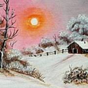 Warm Winter Day After Bob Ross Poster by Barbara Griffin