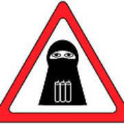 Warning Shahid Sign Poster by Aleksey Tugolukov