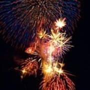 Washington Monument Fireworks 3 Poster by Stuart Litoff