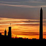 Washington Sunset Poster by Walt  Baker