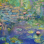 Water Garden Poster by Michael Creese
