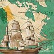 Watercolor Map 2 Poster by Debbie DeWitt