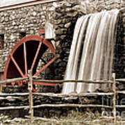 Waterfall At The Mill Poster by Jayne Carney