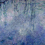 Waterlilies Two Weeping Willows Poster by Claude Monet