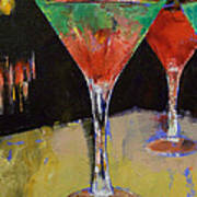 Watermelon Martini Poster by Michael Creese