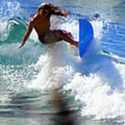 Wave Rider Poster by Karen Wiles