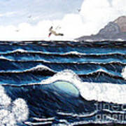 Waves And Tern Poster by Barbara Griffin