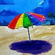 We Left The Umbrella Under The Storm Poster by Patricia Awapara