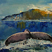 Whale Song Poster by Michael Creese