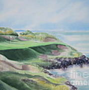 Whistling Straits 7th Hole Poster by Deborah Ronglien