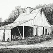 White Barn On Bluff Road Poster by Garry McMichael