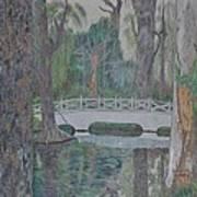 White Bridge Poster by Dave Smith
