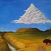 White Cloud Poster by John Lyes