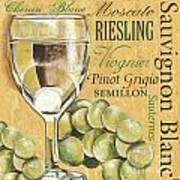 White Wine Text Poster by Debbie DeWitt