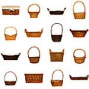 Wicker Basket Collection Poster by Olivier Le Queinec