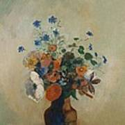 Wild Flowers Poster by Odilon Redon