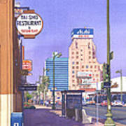 Wilshire Blvd At Mansfield Poster by Mary Helmreich