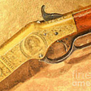 Winchester 1866 Yellow Boy Rifle Poster by Odon Czintos
