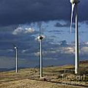 Wind Turbines. Region Auvergne. France Poster by Bernard Jaubert