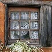 Window At Old Santa Fe Poster by Kurt Van Wagner