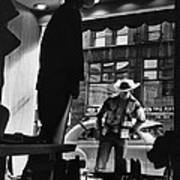 Window Shopping Cowboy Poster by Photo Researchers