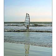 Windsurfing Art Poster - California Collection Poster by Ben and Raisa Gertsberg