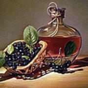 Wine And Berries Poster by Natasha Denger