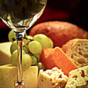 Wine And Cheese Poster by Elena Elisseeva