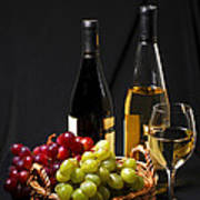 Wine And Grapes Poster by Elena Elisseeva