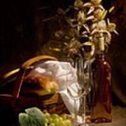 Wine And Romance Poster by Tom Mc Nemar