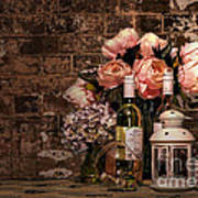 Wine And Roses Poster by Kaye Menner