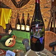 Wine Bottle On Display Poster by Allen Sheffield
