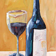 Wine Bottle Still Life Poster by Todd Bandy