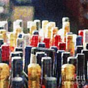 Wine Bottles Painting Poster by Magomed Magomedagaev