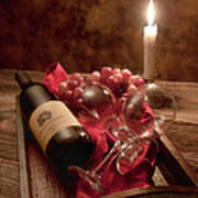 Wine By Candle Light I Poster by Tom Mc Nemar