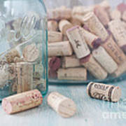 Wine Cork Collection Poster by Kay Pickens