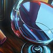 Wine Reflections Poster by Donna Tuten