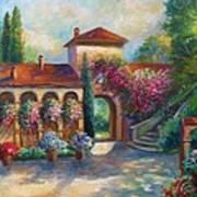 Winery In Tuscany Poster by Regina Femrite