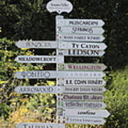 Winery Street Sign In The Sonoma California Wine Country 5d24601 Square Poster by Wingsdomain Art and Photography