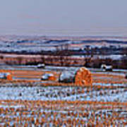 Winter Bales Poster by Scott Bean