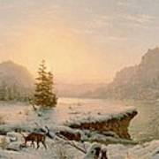 Winter Landscape Poster by Mortimer L Smith