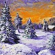 Winter Outlook Poster by Anastasiya Malakhova