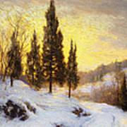 Winter Sundown Poster by Walter Launt Palmer