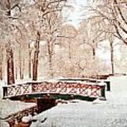 Winter's Bridge Poster by Marty Koch