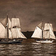 With Full Sails Poster by Dale Kincaid