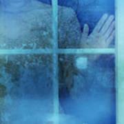 Woman At A Window Poster by Jill Battaglia