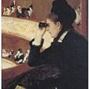 Woman In Black At The Opera Poster by Mary Cassatt