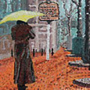 Woman With Umbrella Poster by Robert Yaeger